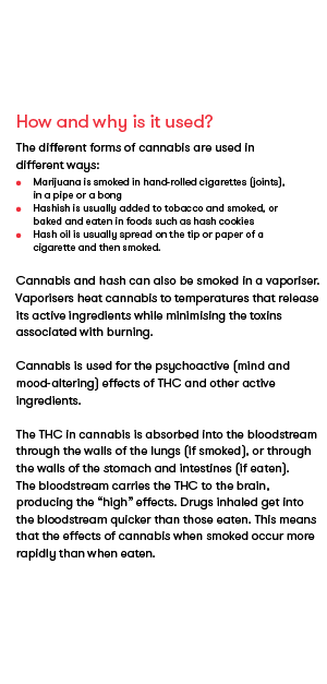 cannabis - How drugs affect you, sample page